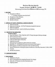 Business Agenda Format Free 8 Sample Meeting Agenda Templates In Pdf