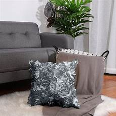 Large Sofa Covers For 3 Cushion 3d Image by 3d Satin Flower Throw Pillow Cover Shells Floral