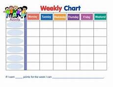 Free Printable Behavior Charts 7 Best Images Of Weekly Sticker Charts Printable Free