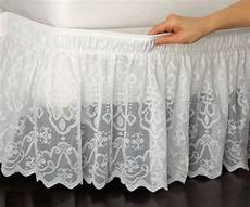 new king size white lace adjustable bed skirt dust