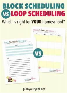 Block Schedule App Free Printable Block Or Loop Schedule Free Homeschool