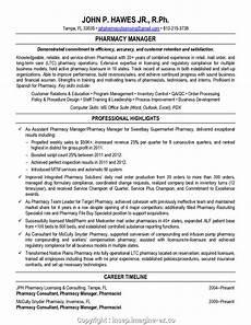 Pharmacy Manager Resume Executive Pharmacy Store Manager Resume Pharmacy Manager