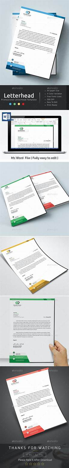 Ms Word Stationery Ms Word Letterhead By Ancient Ego Graphicriver