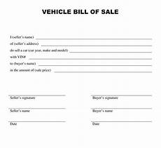 Sample Bill Of Sale Car Printable Sample Bill Of Sale Templates Form Forms And