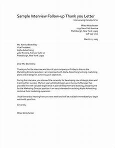 Follow Up Letter After Interview 3 Follow Up Thank You Letter After An Interview Pdf