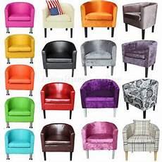 designer crushed velvet fabric tub chair armchair living