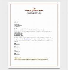 Outline Lesson Plan Example Lesson Plan Outline Template 23 Examples Formats And