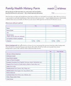 Comprehensive Health History Form Free 10 Sample Health History Forms Pdf
