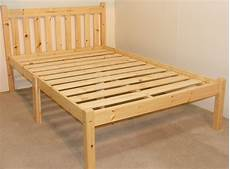 zues 4ft small heavy duty solid pine bed frame