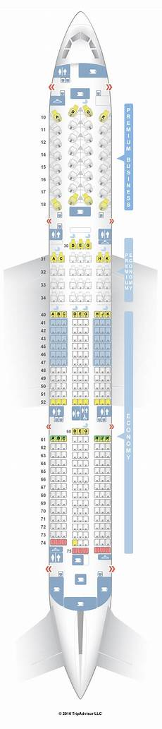 Airbus A350 900 Seating Chart Seatguru Seat Map China Airlines Airbus A350 900 359