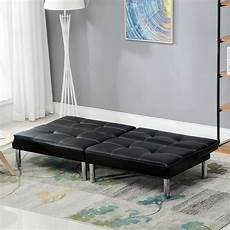 modern leather convertible 3 seater sofa bed futon