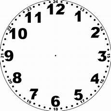 Malvorlage Uhr Ohne Zeiger Printable Blank Clock Template Clock Template Clock