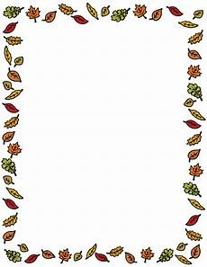 Free Fall Borders For Word Fall Leaves Clip Art Page Border And Vector Graphics
