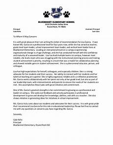 Sample Letter Of Recommendation For Elementary Principal Letter Of Recommendation Garcia 1