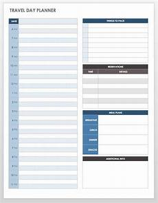 Itinerary Planner Template Free Free Itinerary Templates Smartsheet