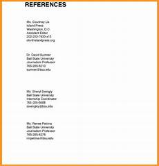 Character References In Resume 14 15 Resume And Reference Page Southbeachcafesf Com