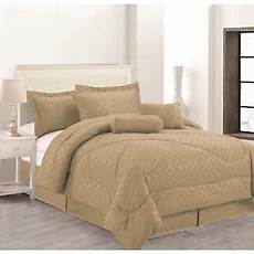 7 solid luxury hotel comforter set bed in a bag