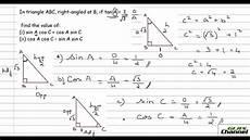 Trigonometry Ratios Problem Solving Using Trigonometric Ratios Part 1 Youtube
