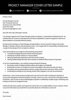 Cover Letter For Project Coordinator Position Project Manager Cover Letter Example Resume Genius