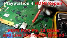 White Light On Ps4 But No Picture Playstation 4 Ps4 Hdmi Repair Pin 13 Diode And Line