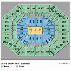 Dean E Smith Center Seating Chart Rows North Carolina Basketball Tickets 2018 2019 Tar Heels