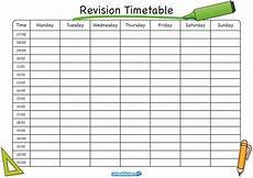 Blank Revision Timetable Template The School Stickers Revision Timetable Is Here