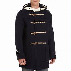 button coats for gloverall toggle button duffle coat in black for