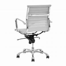 watson white low back desk chair el dorado furniture