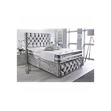 sleep factory s white crushed velvet chesterfield 2