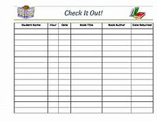 Book Out Sheet Classroom Library Book Check Out Sheet By S