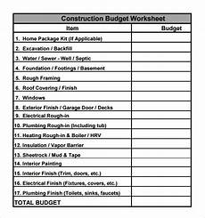 House Building Budget Free 16 Construction Budget Samples In Google Docs
