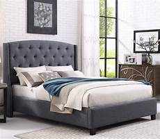 crown 5111 all grey fabric tufted headboard king