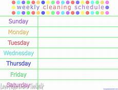 Printable Cleaning Schedule Template Weekly Cleaning Schedule Printable Task List Templates