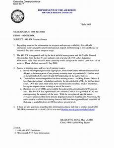 Air Force Letter Of Recommendation For Special Duty Assignment Executive Correspondence Memorandum For Record Dated 07