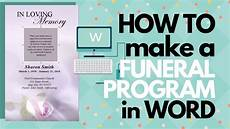 Free Printable Memorial Templates How To Customize A Funeral Program Template Youtube