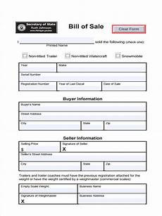 Sample Bill Of Sale For Trailer Free 6 Trailer Bill Of Sale Forms In Pdf