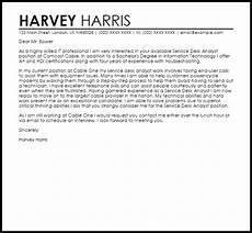 Cover Letter For Survey Service Desk Analyst Cover Letter Sample Cover Letter