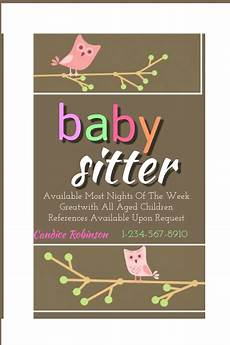 Babysitting Pamphlets Baby Sitting Flyer Template Postermywall