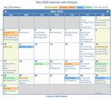 Printable May 2020 Calendar With Holidays Print Friendly May 2020 Us Calendar For Printing