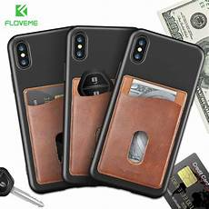 card sleeve for phone floveme leather 3m adhesives card sticker pocket universal
