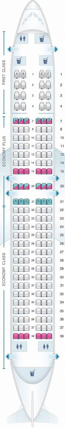 United Airlines Boeing 737 Seating Chart Seat Map United Airlines Boeing B737 800 Version 3
