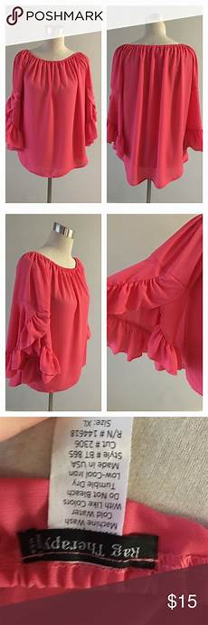 sleeve blouse for therapy pink ruffle bell sleeve blouse nwot ruffle bell sleeve