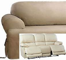 Cover Reclining Sofa 3d Image by Dual Reclining Sofa Slipcover T Cushion Cotton Taupe Sure