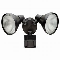 Defiant Lighting Defiant 110 Degree Black Motion Activated Outdoor Flood