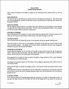 Commercial Cleaning Contract Sample Free Printable Cleaning Contract Template Form Generic