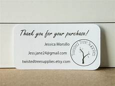 Business Thank You Cards With Logo Custom Mini Thank You Business Cards Printed With Your Logo