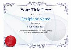 Volleyball Certificate Templates Free Volleyball Certificate Templates Add Printable
