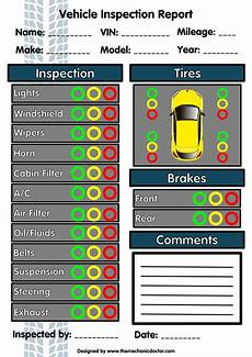 Car Maintenance Checklist Form 6 Free Vehicle Inspection Forms Modern Looking