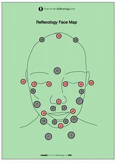 Face Reflexology Chart Face Reflexology Chart With Instructions