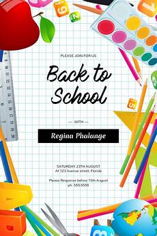 School Event Flyer Back To School Event Flyer Template Postermywall